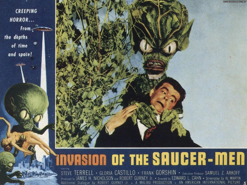 alien horror, invasion of the saucer men